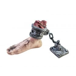 EUROPALMS Halloween Foot with chain, 25x10x17cm