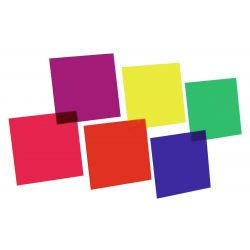EUROLITE Color-foil set 24x24cm,six colors