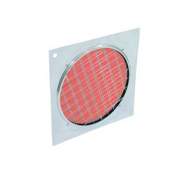 Red dichroic filter silver frame PAR-64