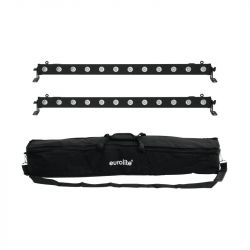 EUROLITE Set 2x LED BAR-12 QCL RGBA + Soft Bag
