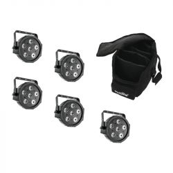 EUROLITE Set 5x LED SLS-6 TCL Spot + Soft Bag