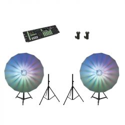 EUROLITE Set 2x LED Umbrella 140 + DMX LED Color Chief + 2x BS-2