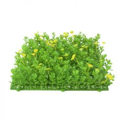 EUROPALMS Grass mat, artificial, green-yellow, 25x25cm