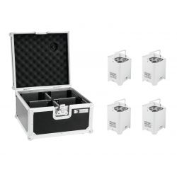 EUROLITE Set 4x AKKU UP-4 HCL Spot WDMX wh + Case