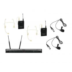 RELACART Set UR-260D Bodypack with Headset and Lavalier