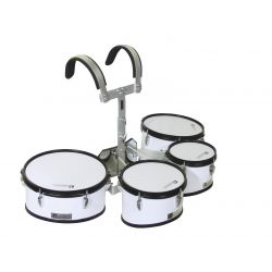 DIMAVERY MT-430 Marching Drum Set, white