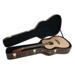 DIMAVERY Form case Western guitar,Brown