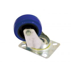 Swivel castor  80mm blue