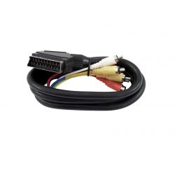 Cable SA-15 Scart-cable/6x RCA, 1.5m