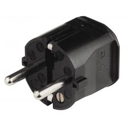 Black plastic electric plug