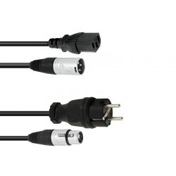 PSSO Combi cable Safety plug/XLR 5m