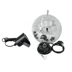 EUROLITE Mirror ball Set 20cm with LED spot