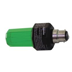 EUROLITE Strobe with B-22 base, green