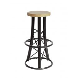 ALUTRUSS Bar stool, curved...
